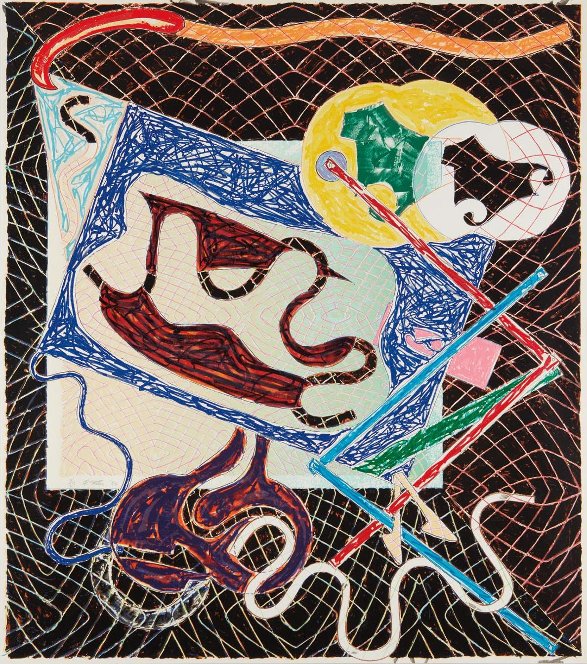 Frank Stella-Shards Variant IIIa, From Shards-1982