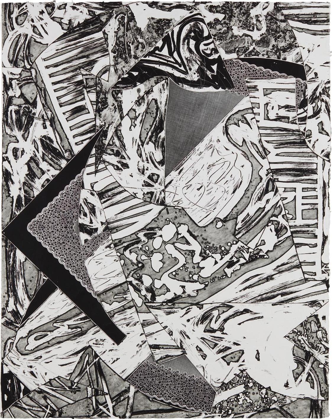 Frank Stella-Swan Engraving III, From Swan Engravings-1982