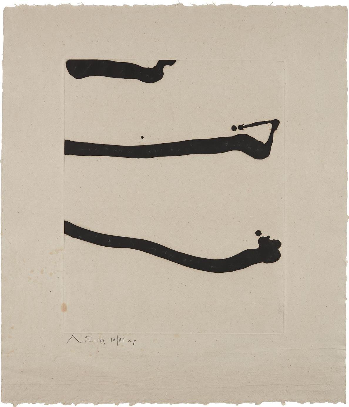 Robert Motherwell-Dutch Linen Suite: One Plate-1974