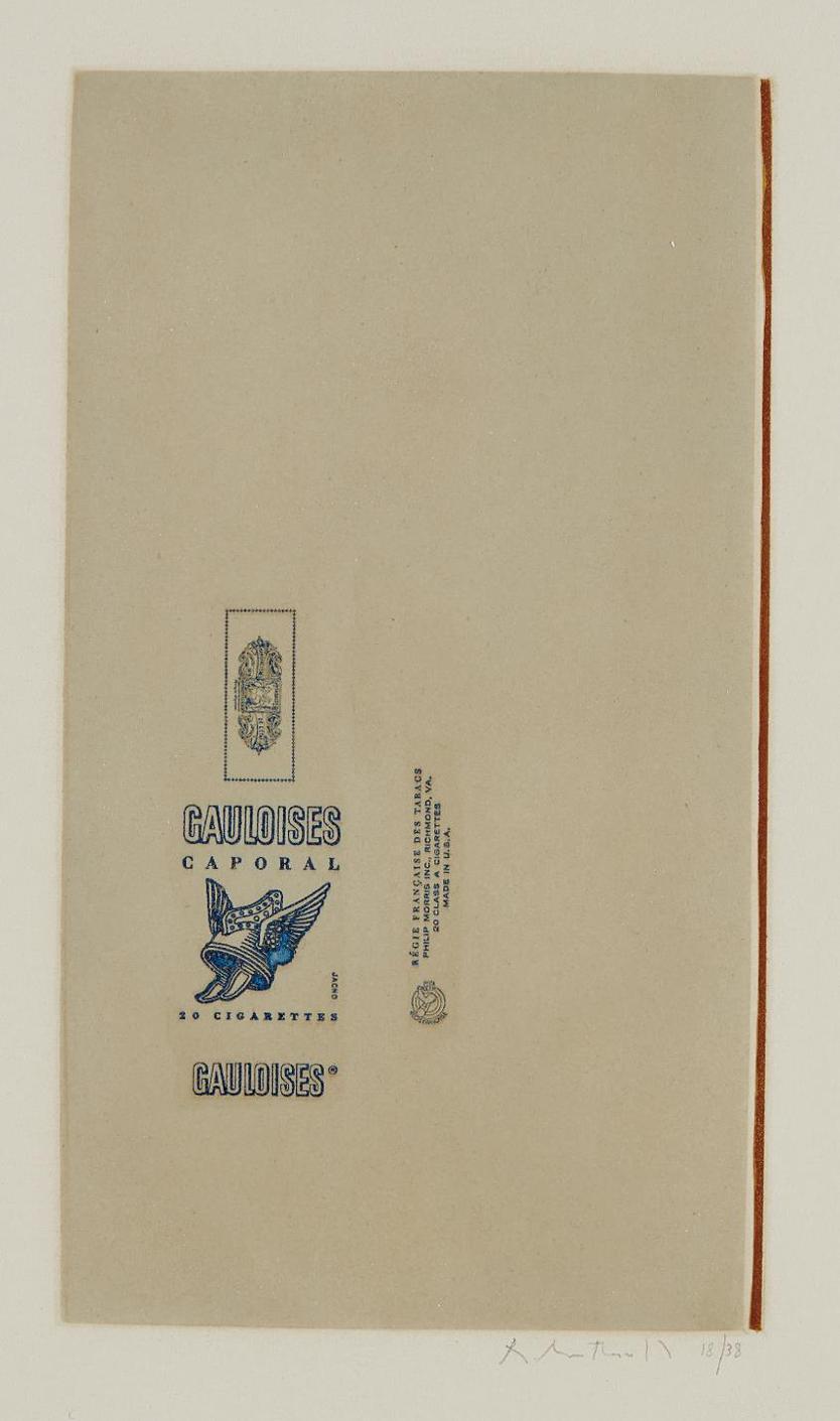 Robert Motherwell-Gauloises Bleues (Raw Umber Edge)-1971