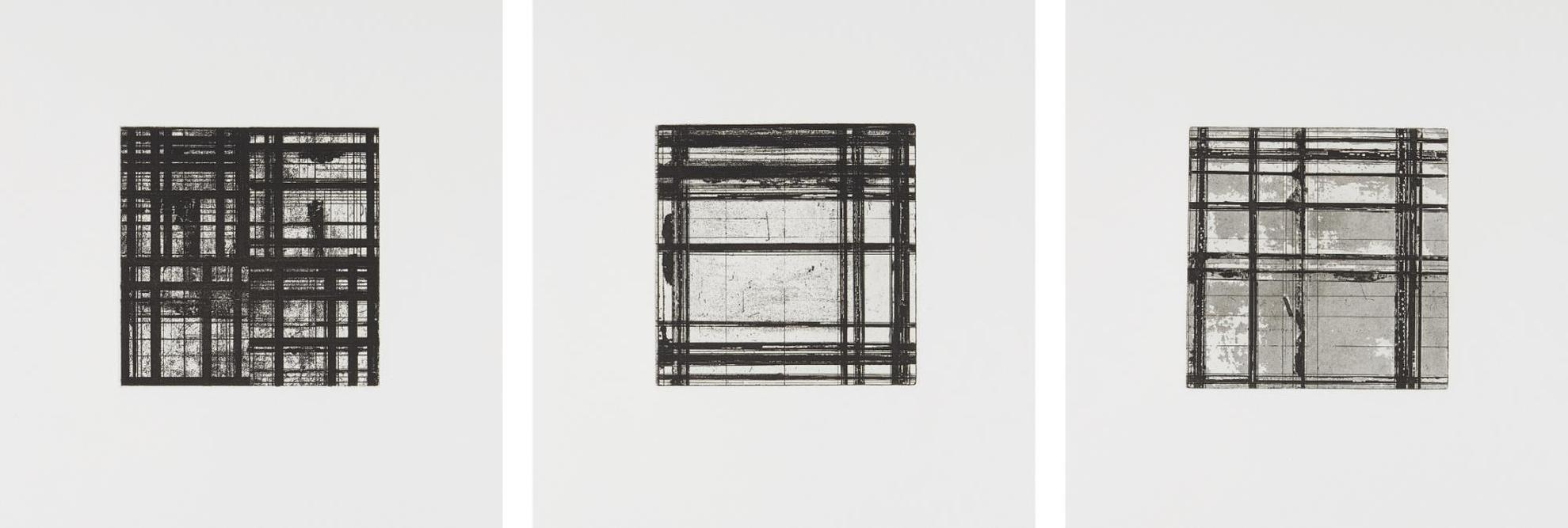 Brice Marden-Tiles: Three Plates-1979