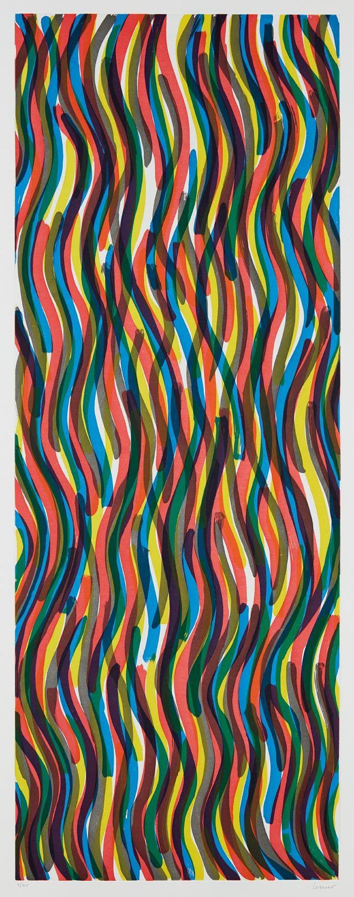 Sol LeWitt-Curvy Brushstrokes I-1997