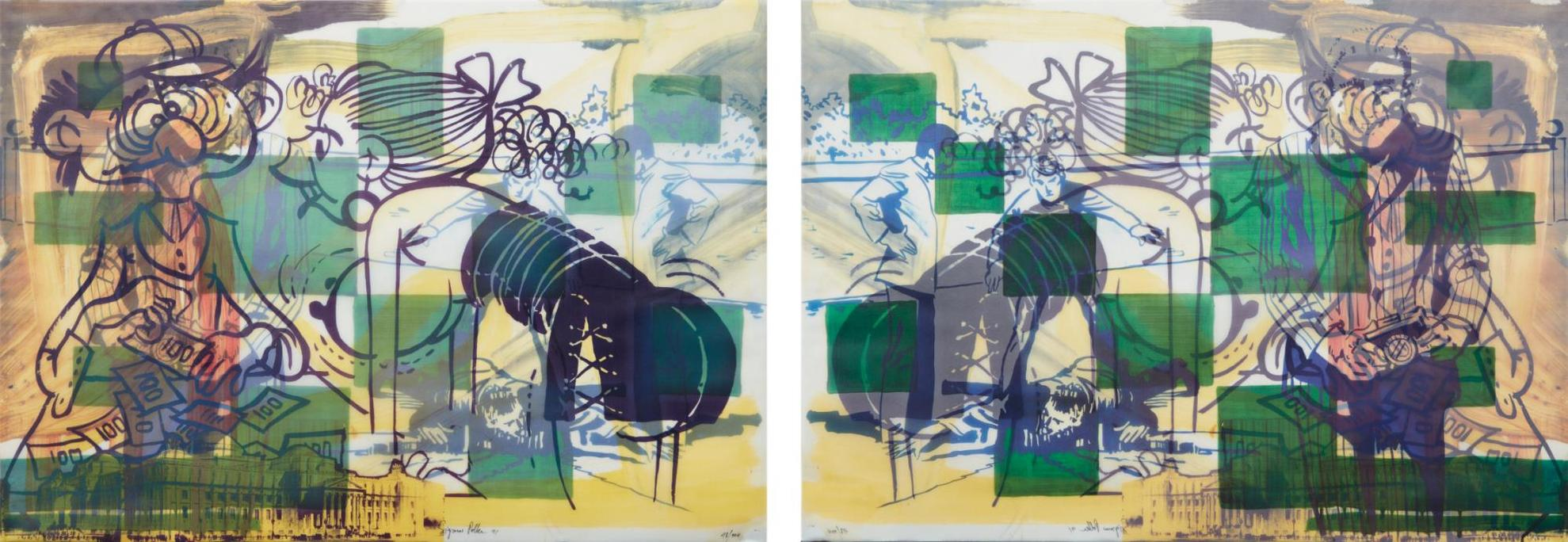 Sigmar Polke-Leave The Lab And Enter The Office-1991