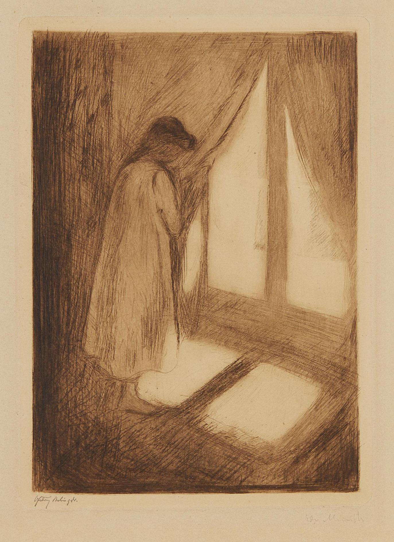 Edvard Munch-The Girl At The Window (Das Madchen Am Fenster)-1894