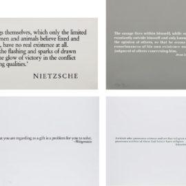 Joseph Kosuth-Ex Libris For The The Brooklyn Museum (Two Plates); [Wittgenstein]; [Goethe]; And [Nietzsche]-1990