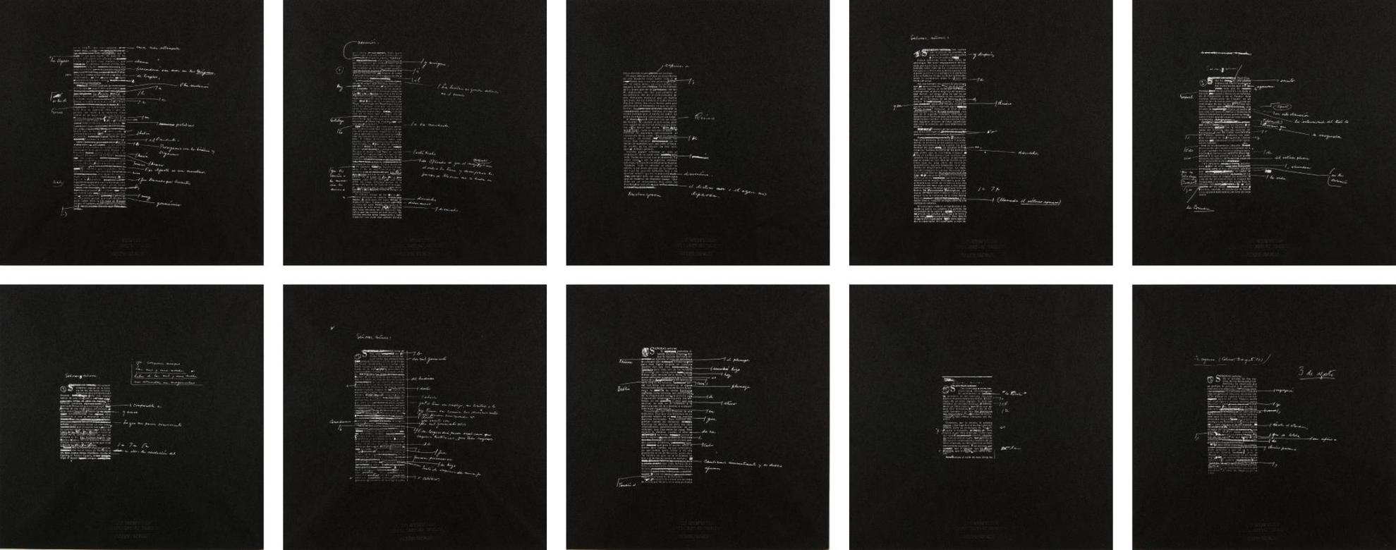 Joseph Kosuth-10 Unnumbered Corrections (7 Nights)-1991