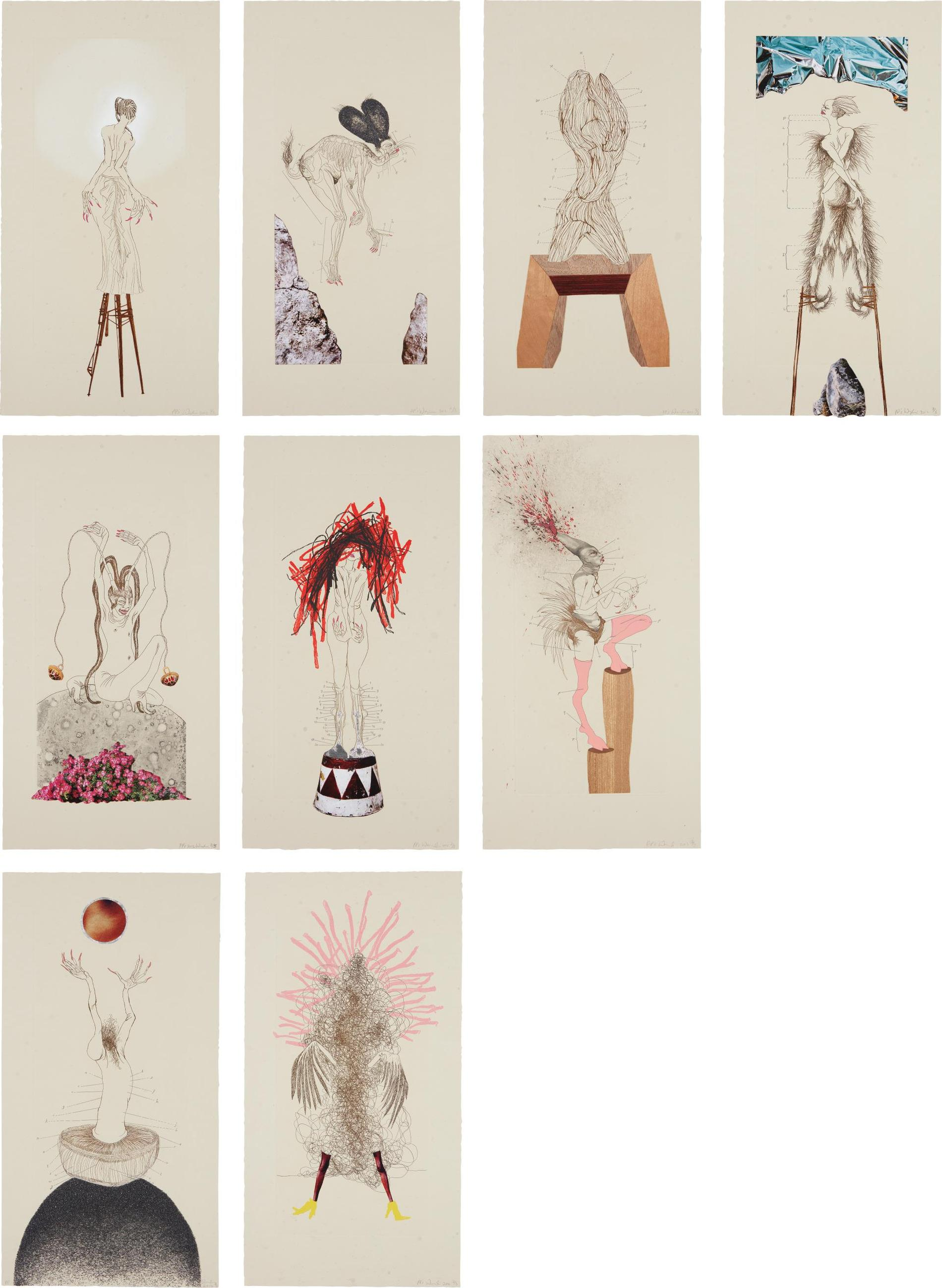 Wangechi Mutu-The Original Nine Daughters-2012