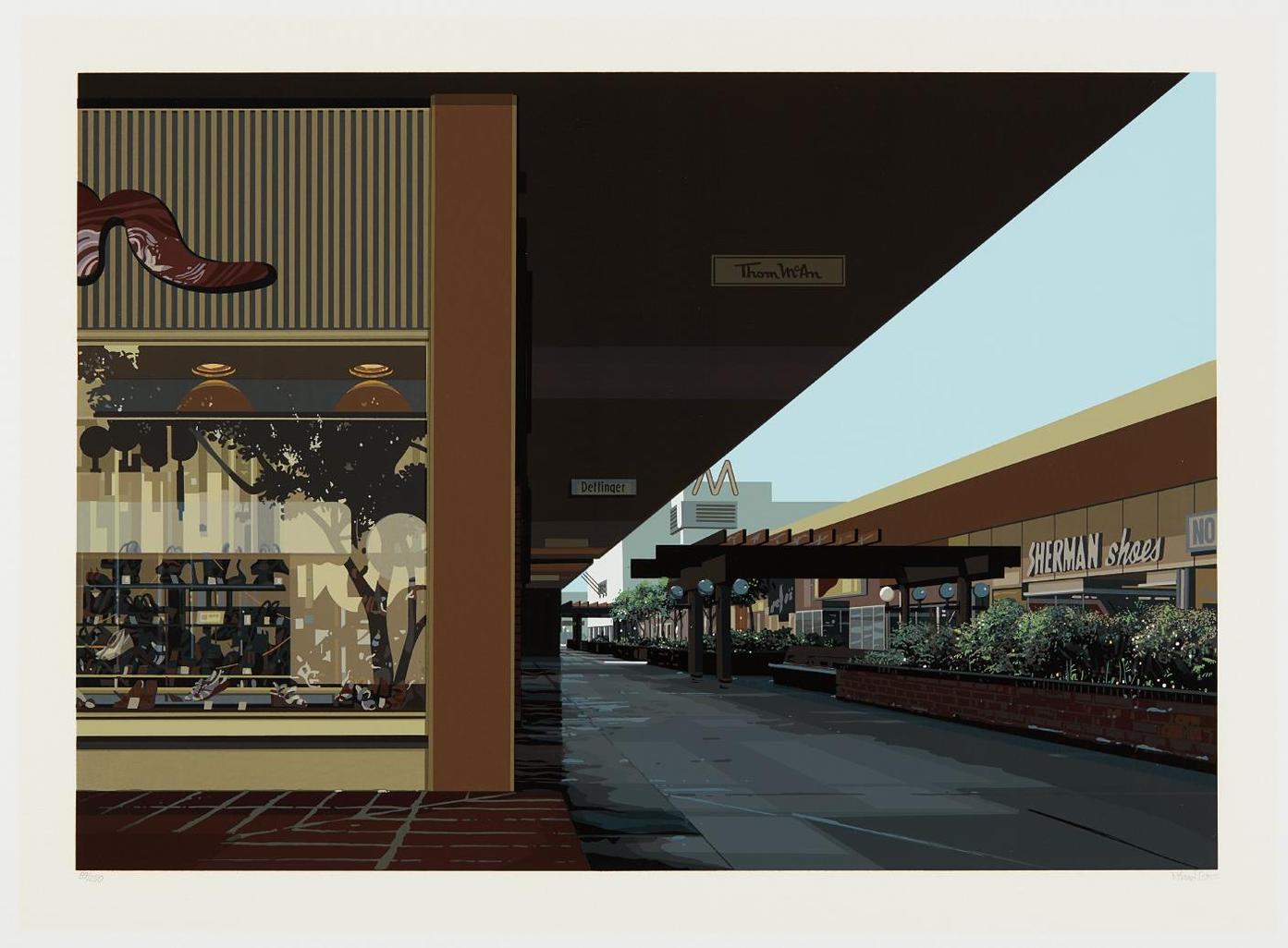 Richard Estes-Lakewood Mall, From Urban Landscapes No. 3-1981