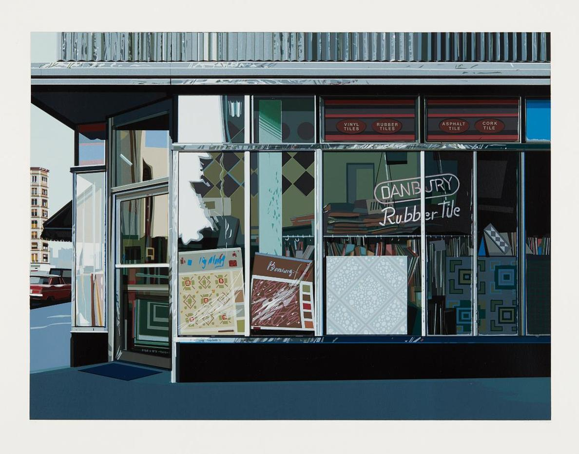 Richard Estes-Danbury Tile, From Urban Landscapes-1972
