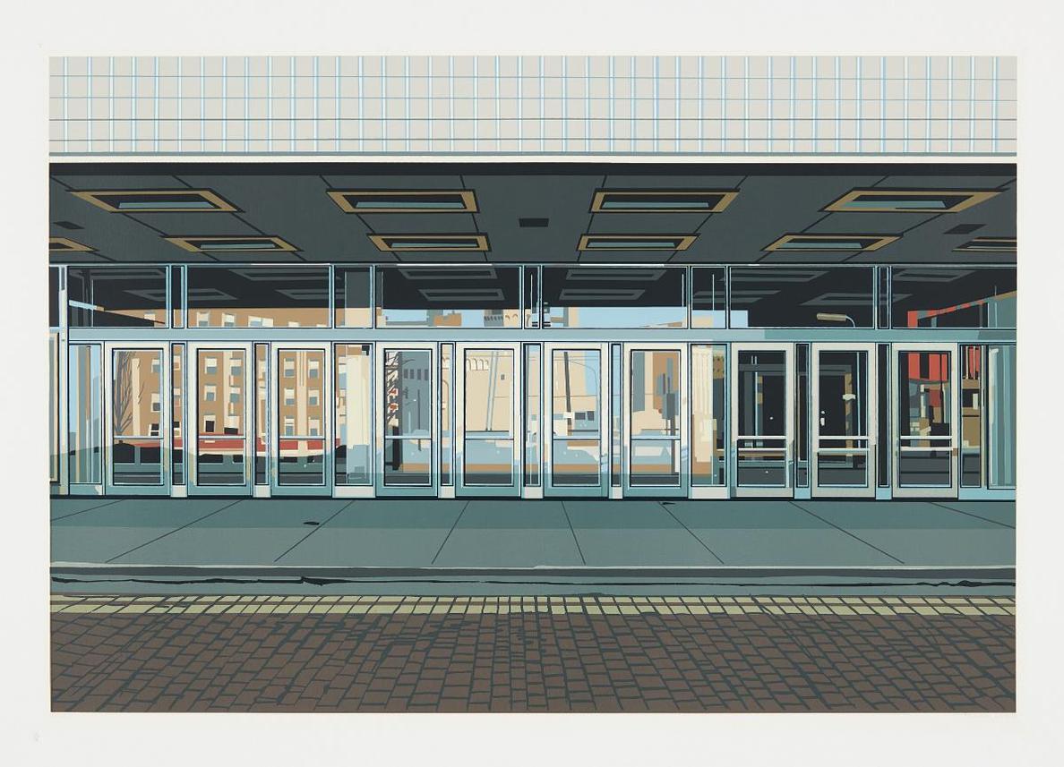 Richard Estes-Ten Doors, From Urban Landscapes-1972