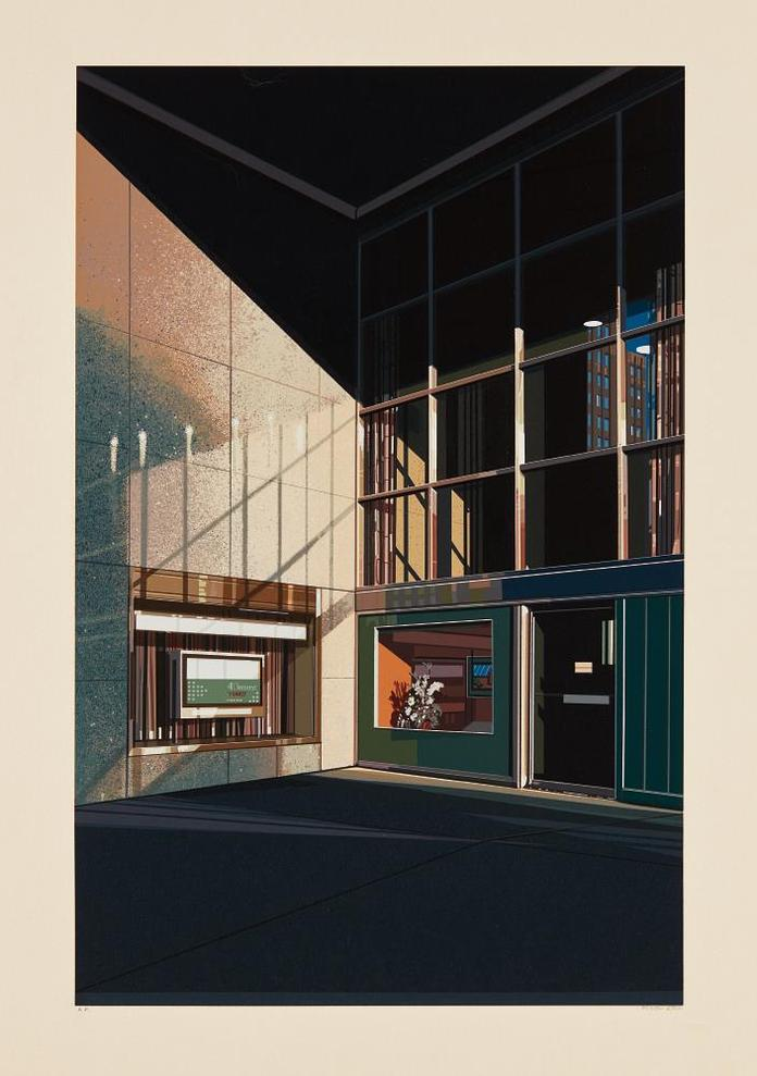 Richard Estes-4 1/2% Interest, From Urban Landscapes No. 2-1979