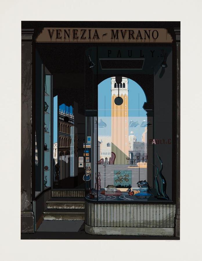 Richard Estes-Venezia-Murano, From Urban Landscapes No. 2-1979