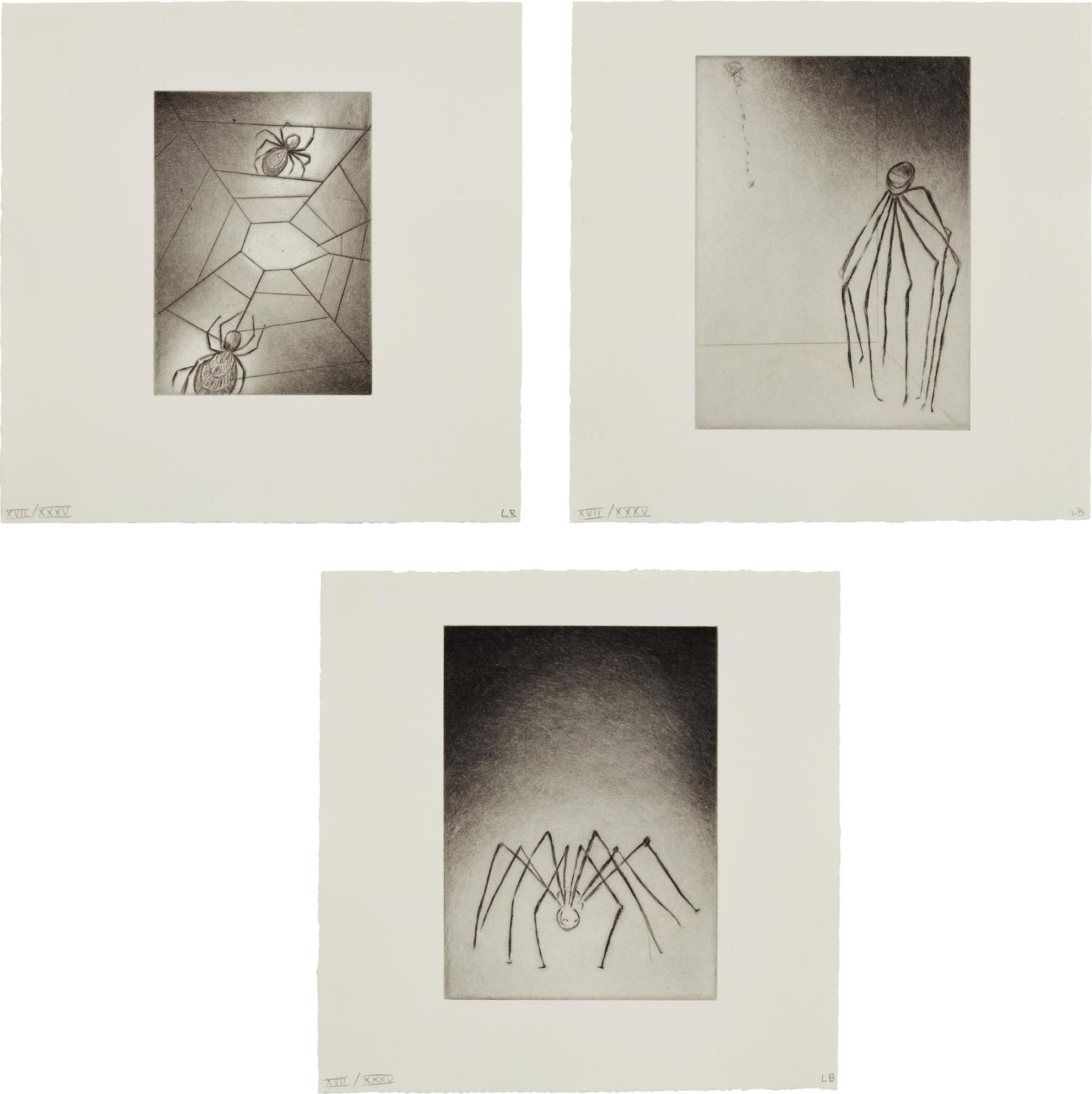 Louise Bourgeois-Ode A Ma Mere (Ode To My Mother): Three Plates-1995