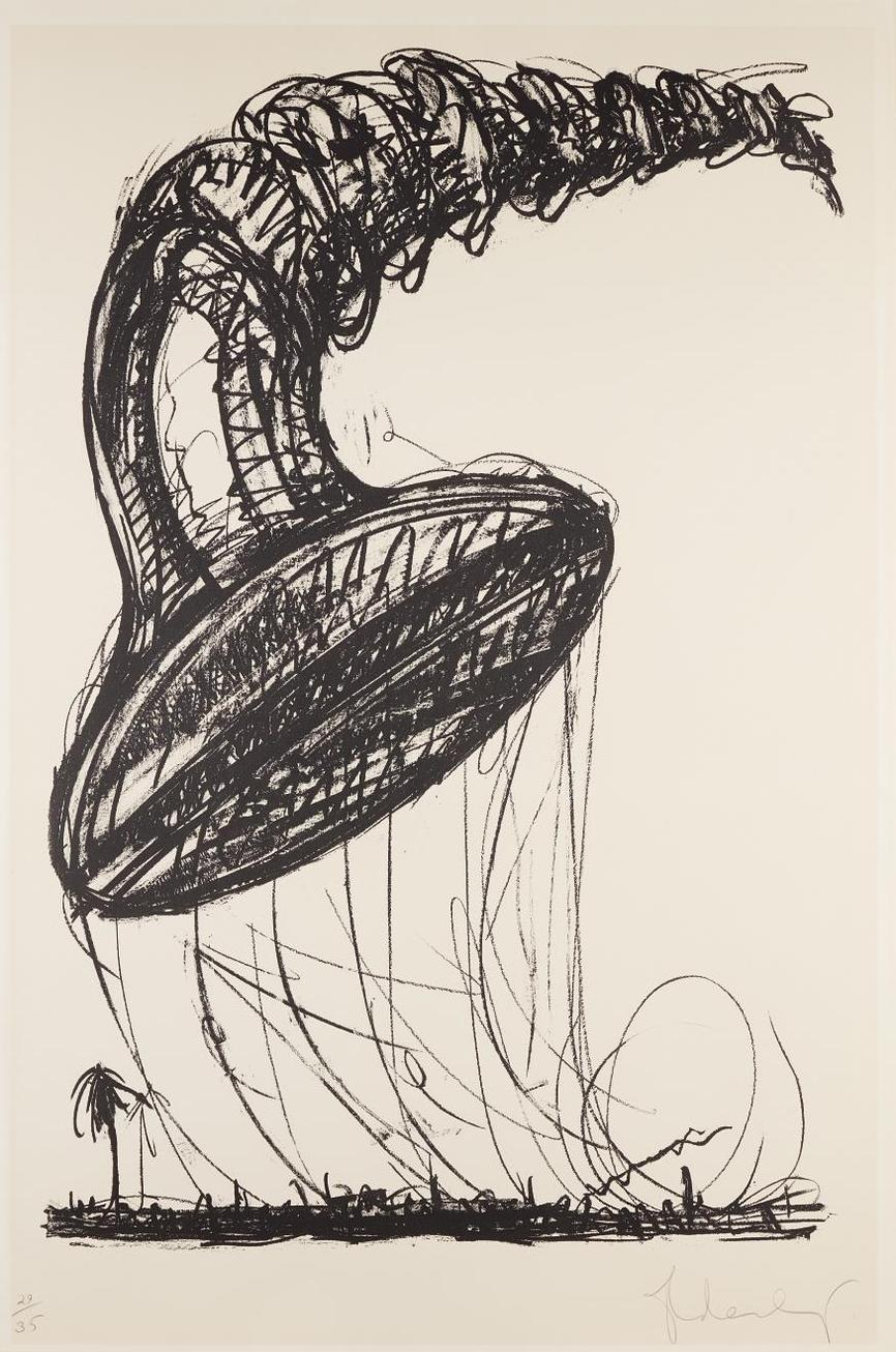 Claes Oldenburg-Soft Screw As Balloon, Ascending-1976