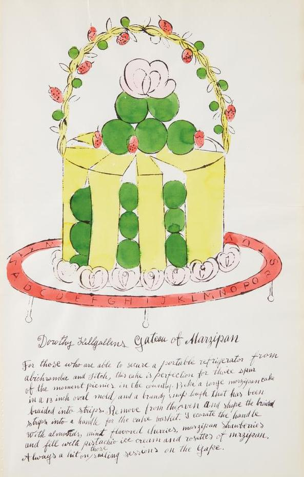 Andy Warhol-Dorothy Killgallens Gateau Of Marzipan, From Wild Raspberries-1959