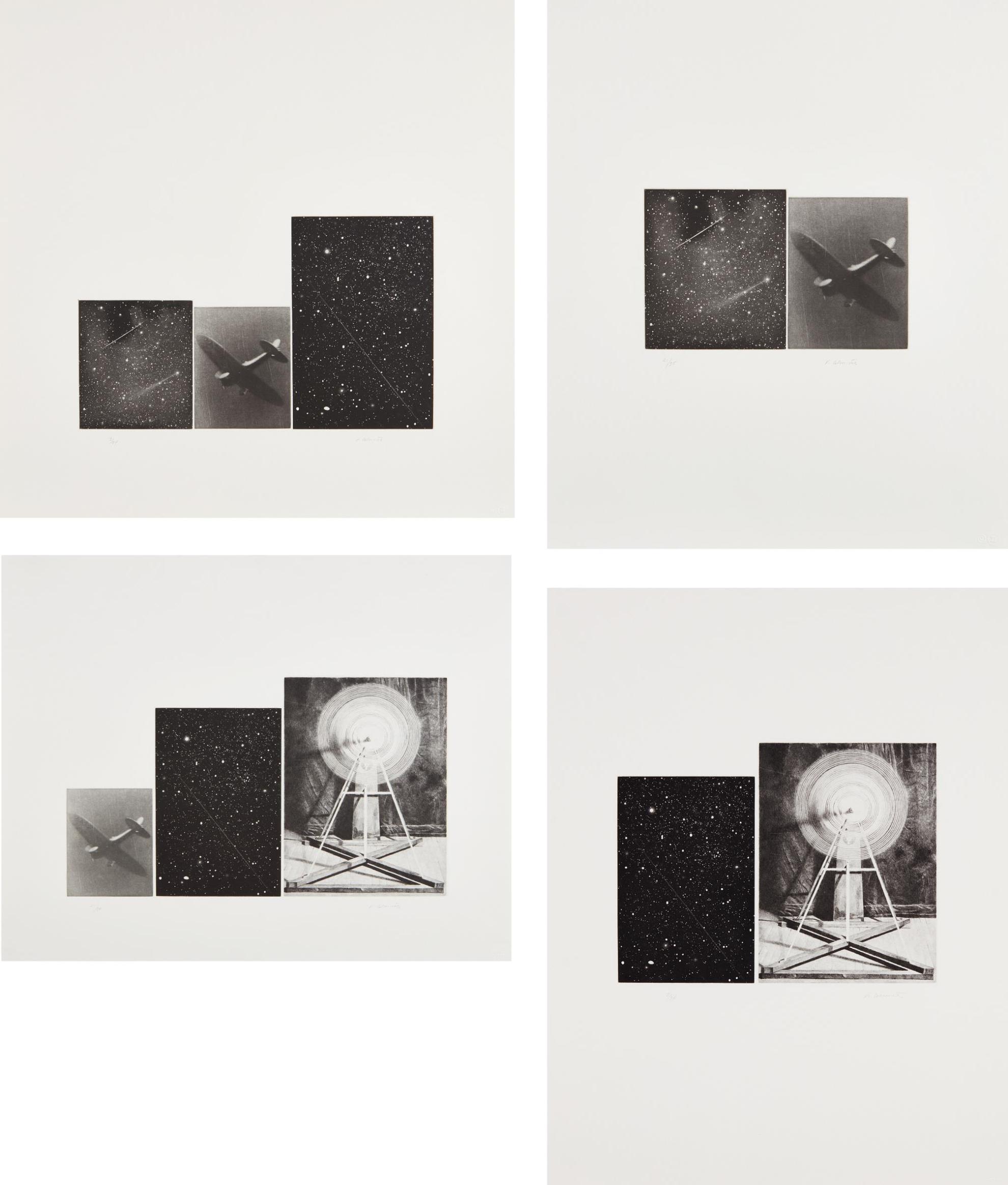Vija Celmins-Concentric Bearings A, B, C, And D-1984