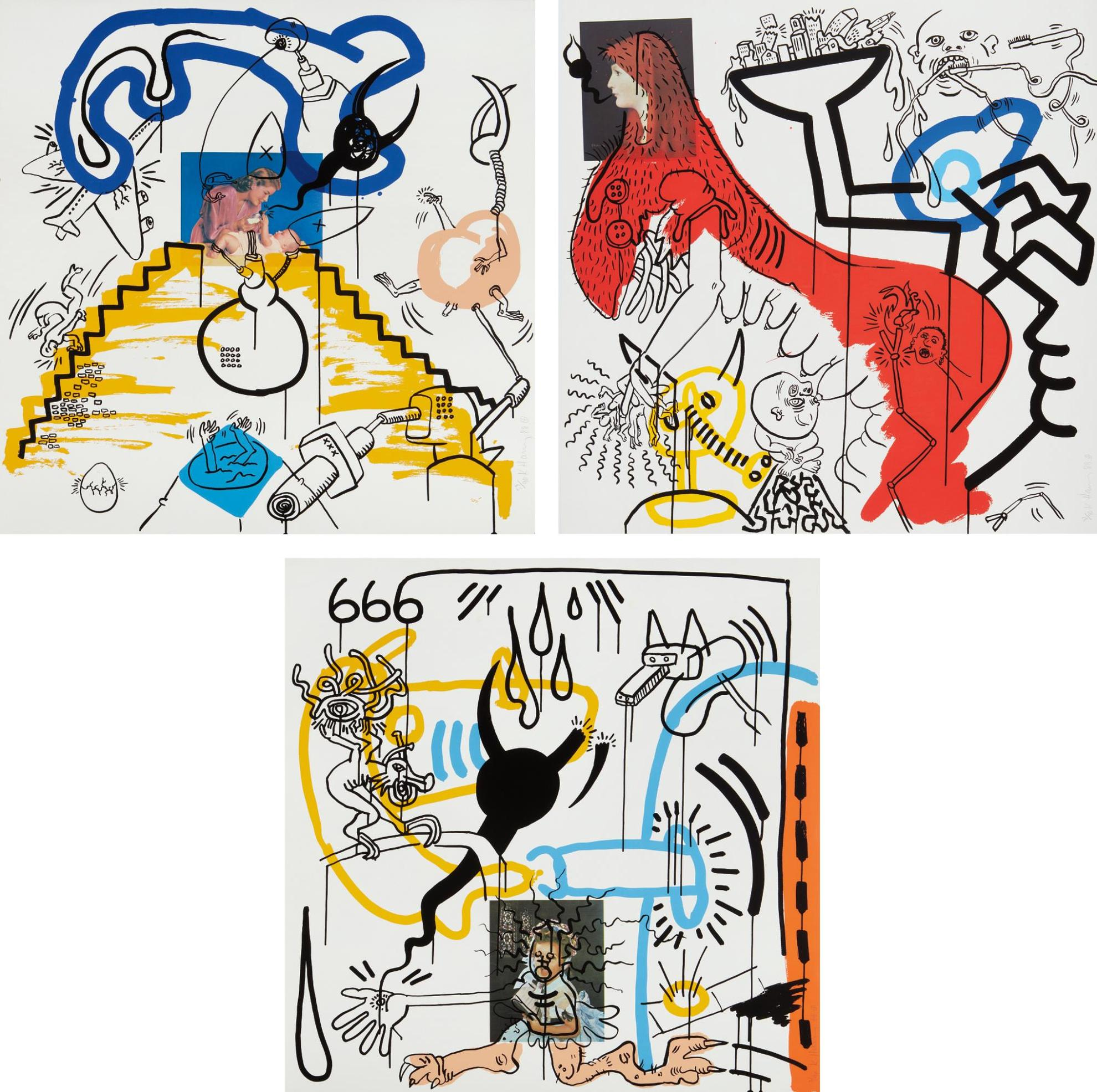 Keith Haring-Apocalypse 3; 4; And 8-1988