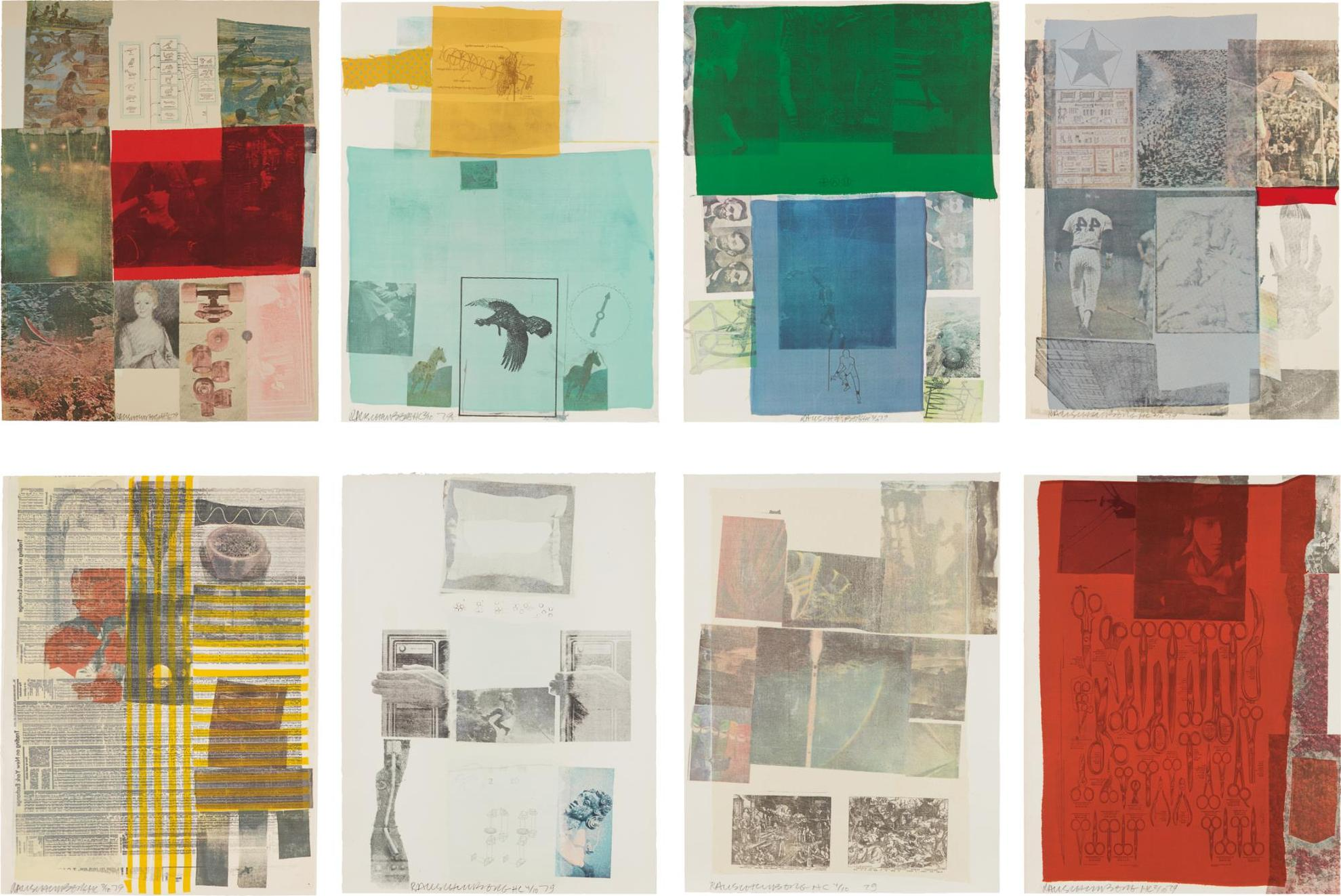 Robert Rauschenberg-The Suite Of Nine Prints: Eight Plates-1979
