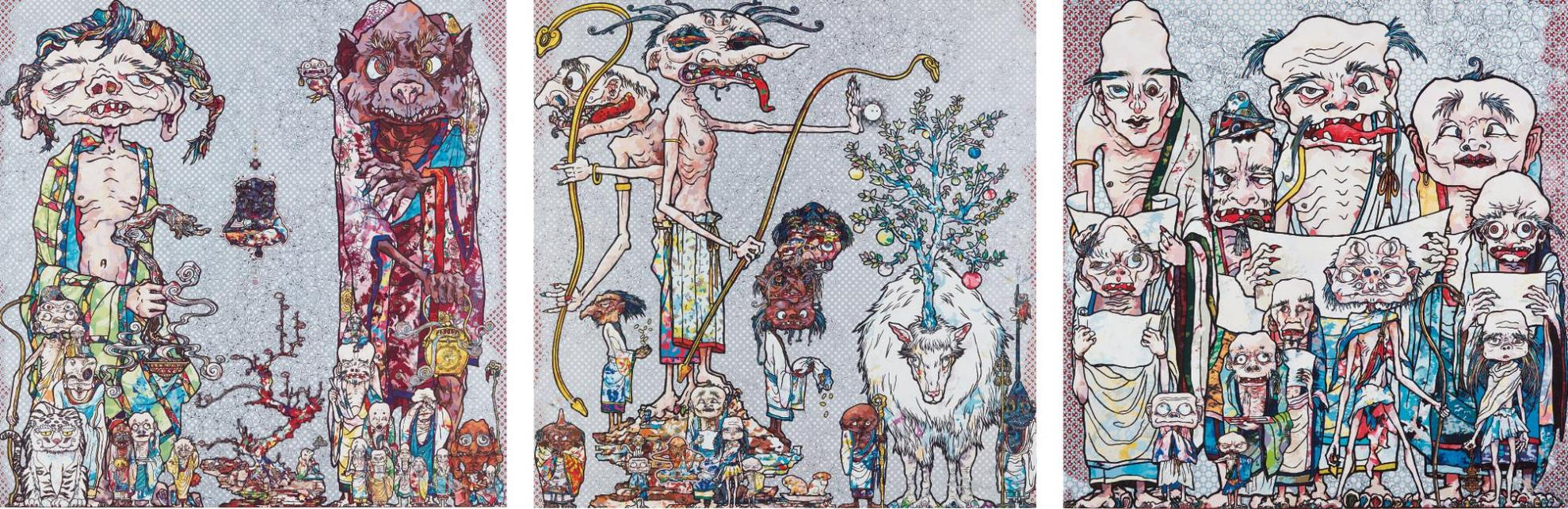 Takashi Murakami-12 Arhats; Behold! Tis The Netherworld; And Assignation Of A Spirit!-2014