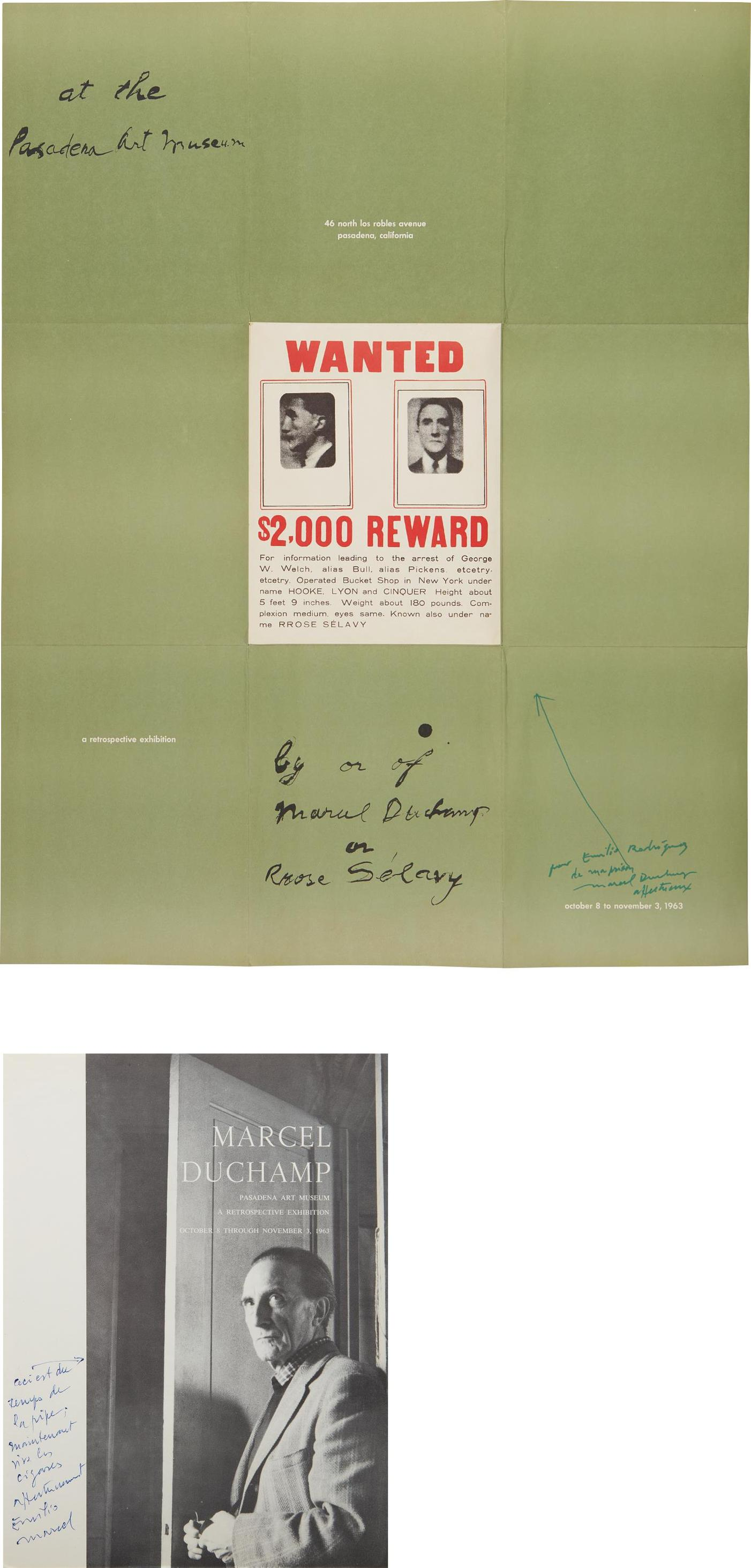Marcel Duchamp-A Poster Within A Poster; And Cover For 'Marcel Duchamp: A Retrospective Exhibition'-1963