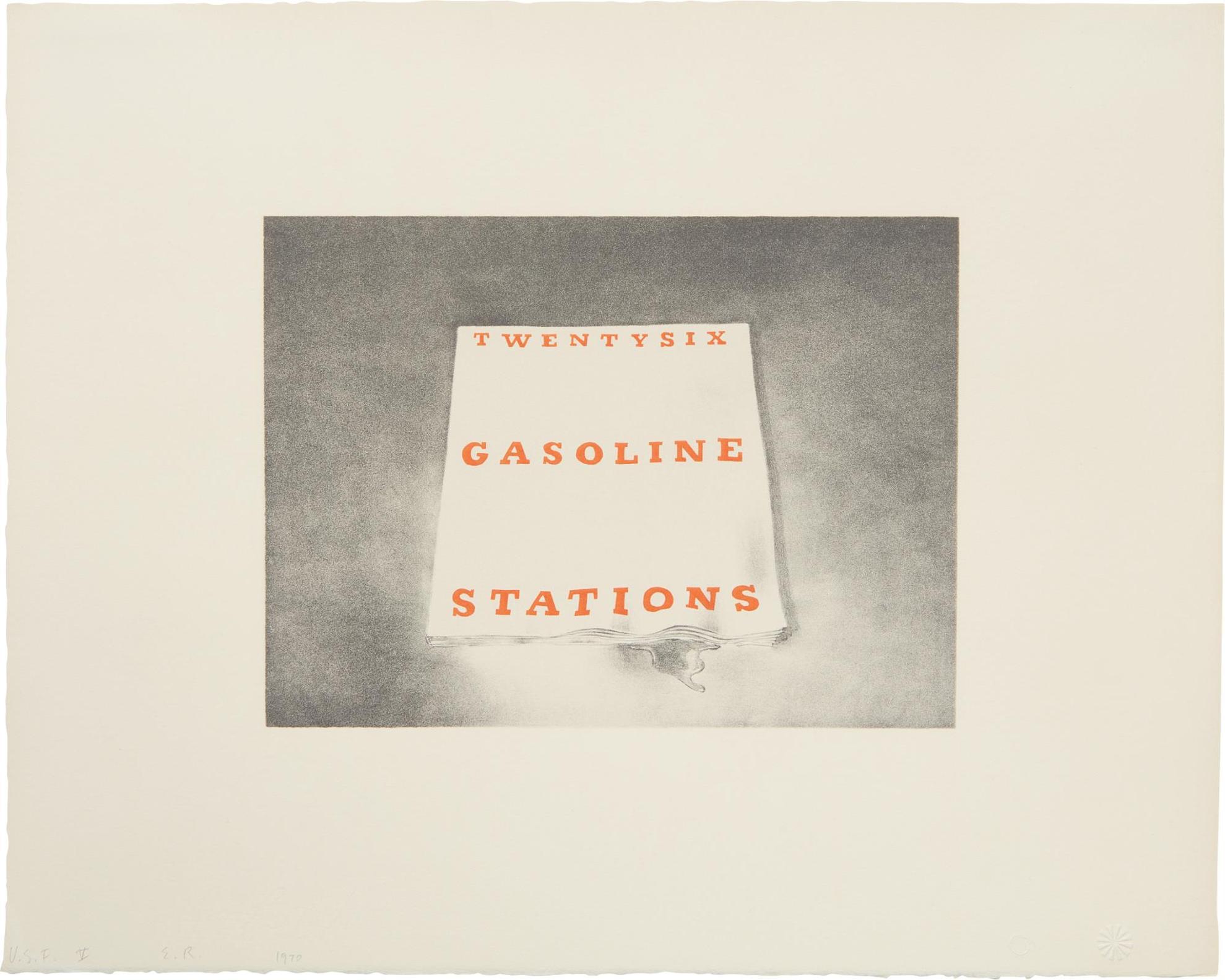 Ed Ruscha-Twentysix Gasoline Stations, From Book Covers-1970