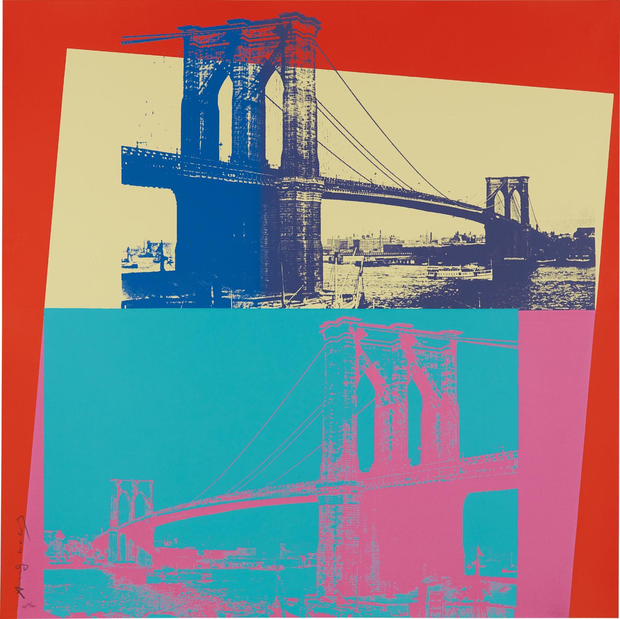 Andy Warhol-Brooklyn Bridge-1983