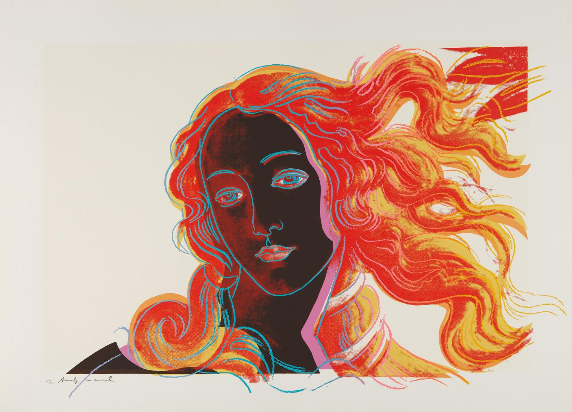 Andy Warhol-Sandro Botticelli, Birth Of Venus, 1482, From Details Of Renaissance Paintings-1984