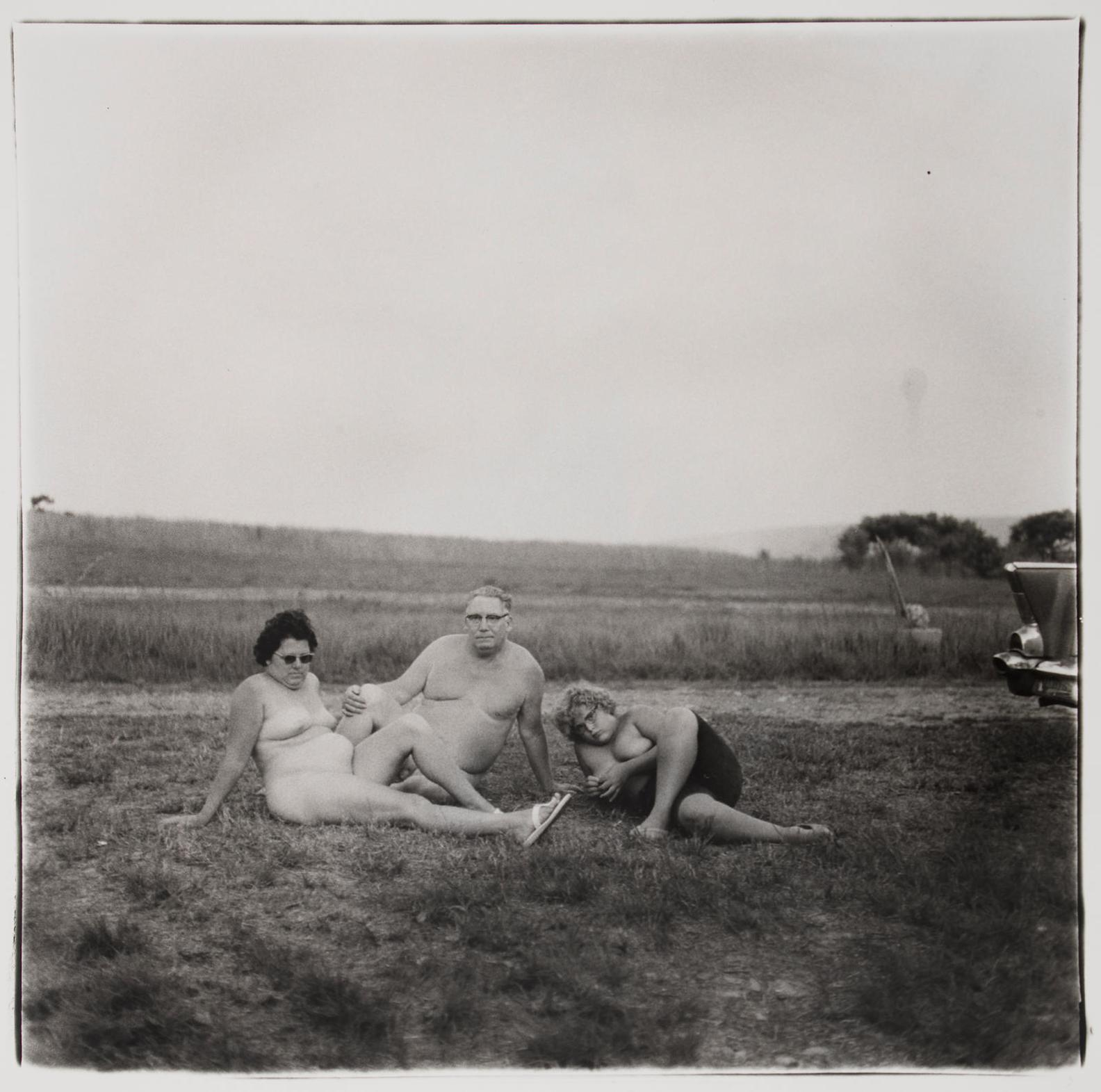 Diane Arbus-A Family One Night In A Nudist Camp, Pennsylvania-1965