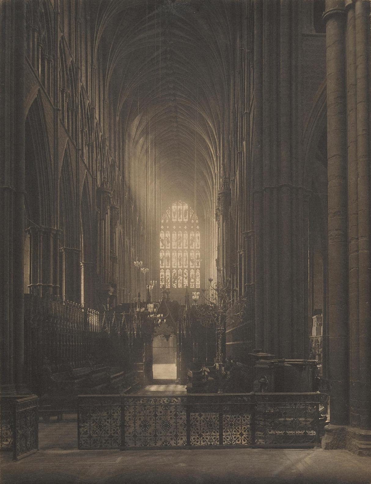 Frederick H. Evans-Looking West From The High Altar-1905