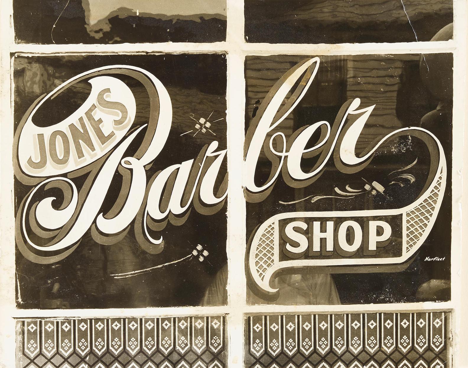 Peter Sekaer-Jones Barber Shop, Bowling Green, Va-1936