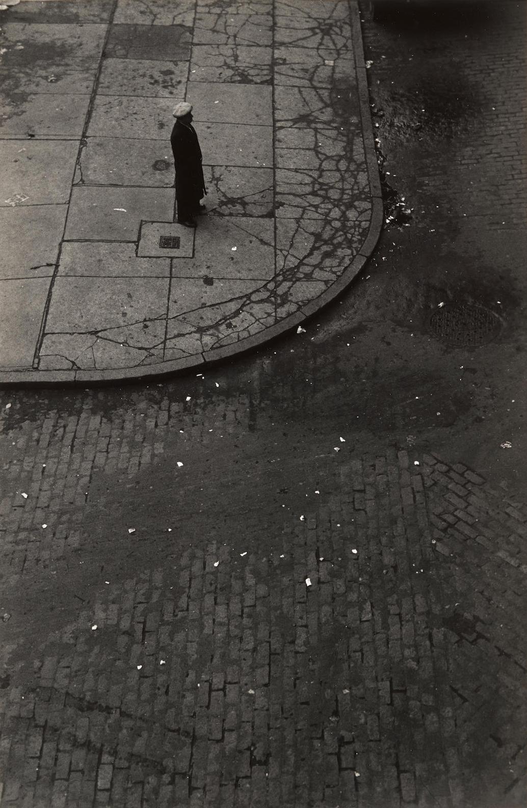 Roy DeCarava-Man Standing On Street Corner-1948