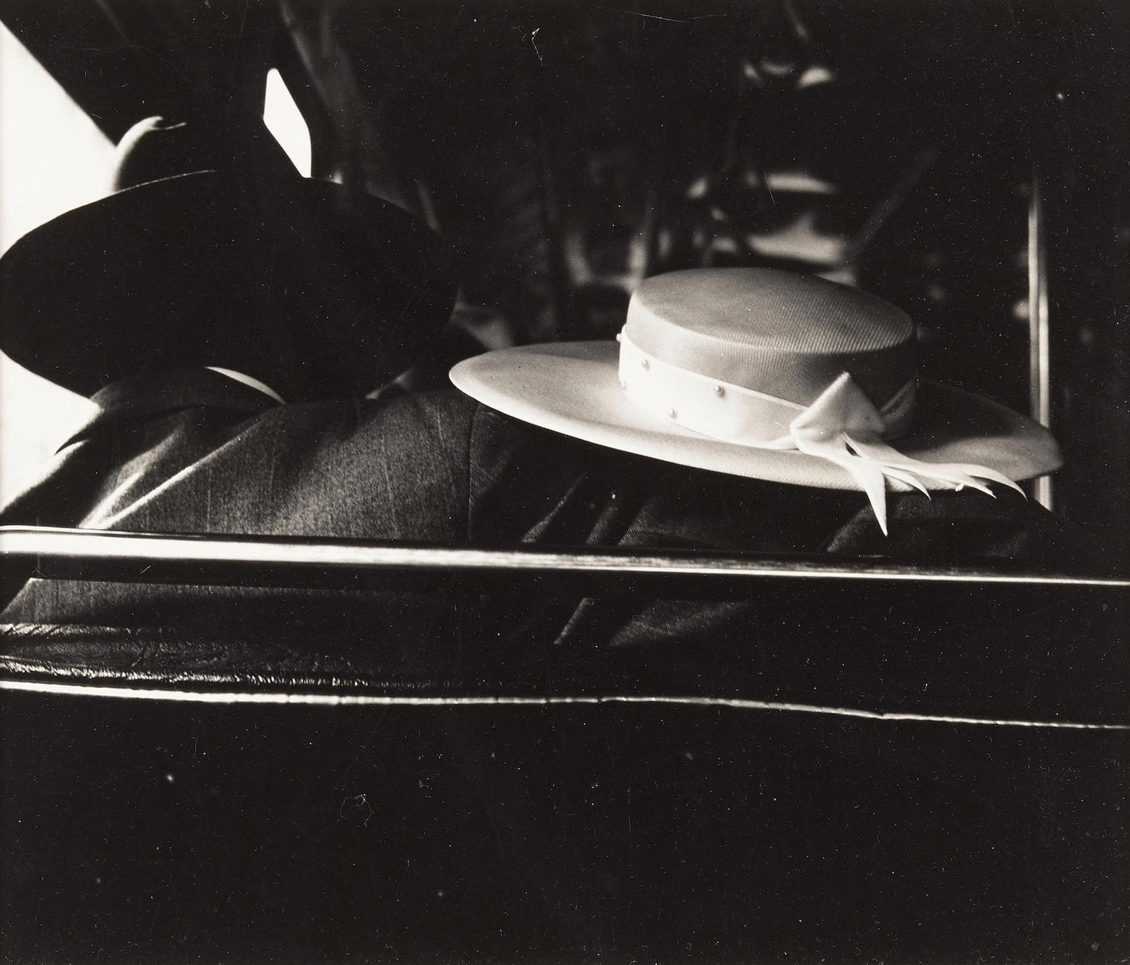 Weegee-Couple On The Bus-1950