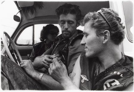 Danny Lyon-Cal With Eileen And Pig-1965