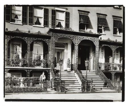Berenice Abbott-Gramercy Park West, Nos. 3-5-1935