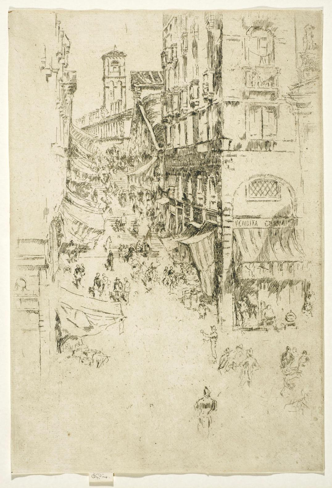 James Abbott McNeill Whistler-The Rialto, From Twenty-Six Etchings-1879