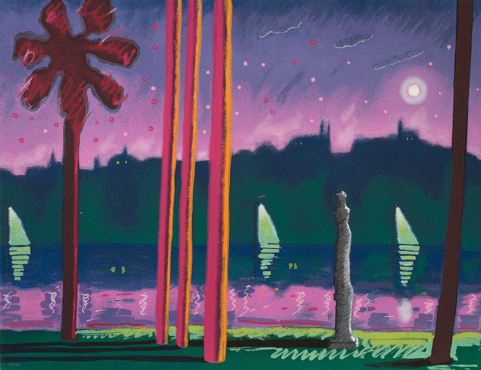 Carlos Almaraz-Suave Como La Noche-1982