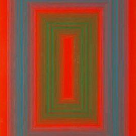 Richard Anuszkiewicz-Reflections II - Red Line-1979