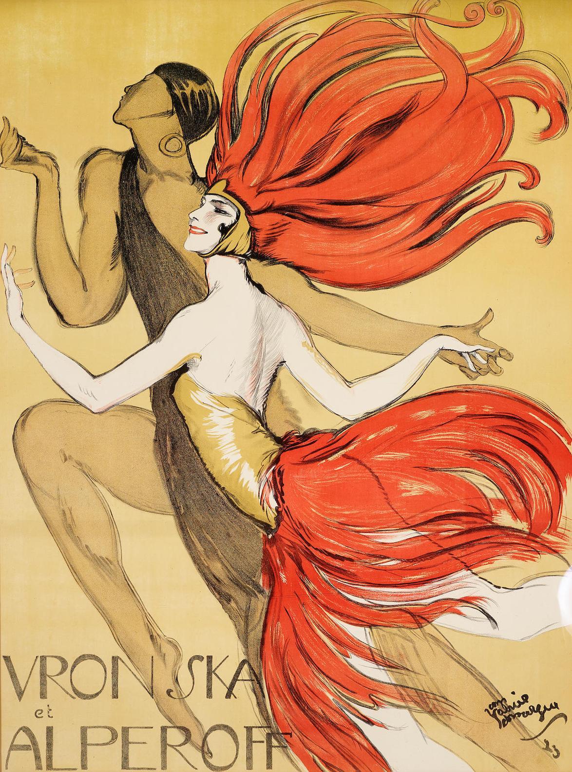 Jean-Gabriel Domergue-Vronska Et Alperoff-1923