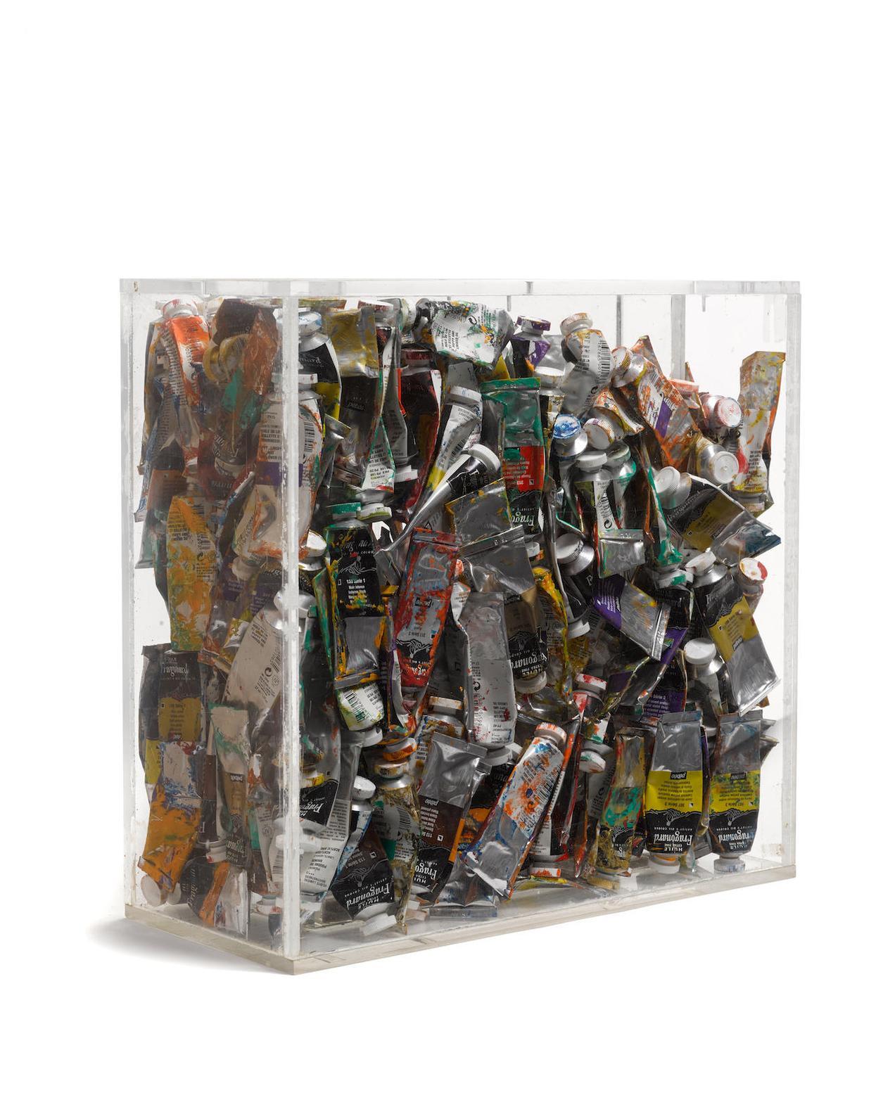 Arman-Poubelle De Tubes De Peinture-2004