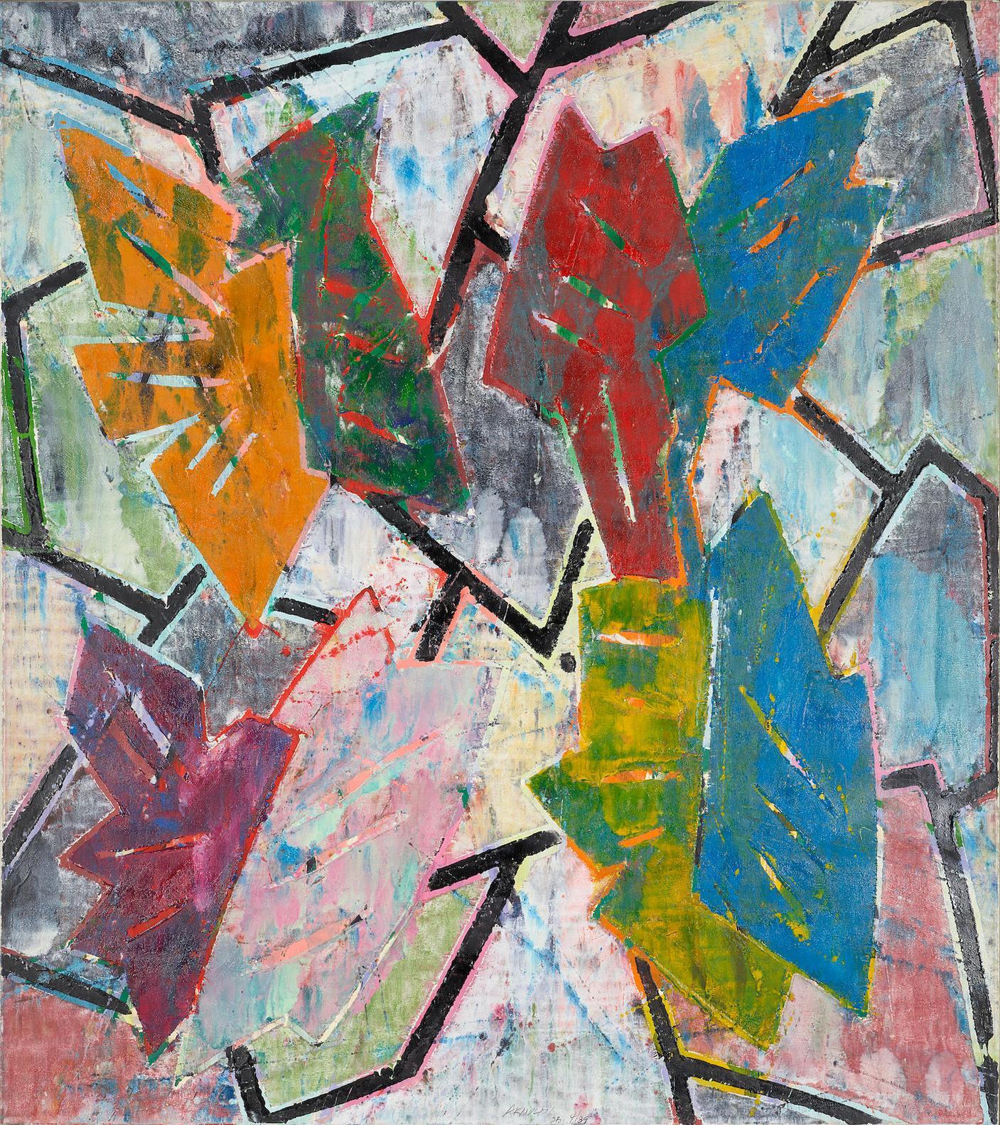 Charles Arnoldi-Untitled (Gt/Ca-4-89 W8)-1989