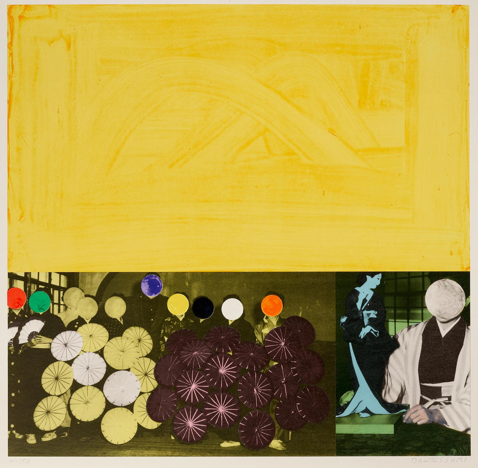John Baldessari-Japanese (Yellow), From Cliche Series-1995