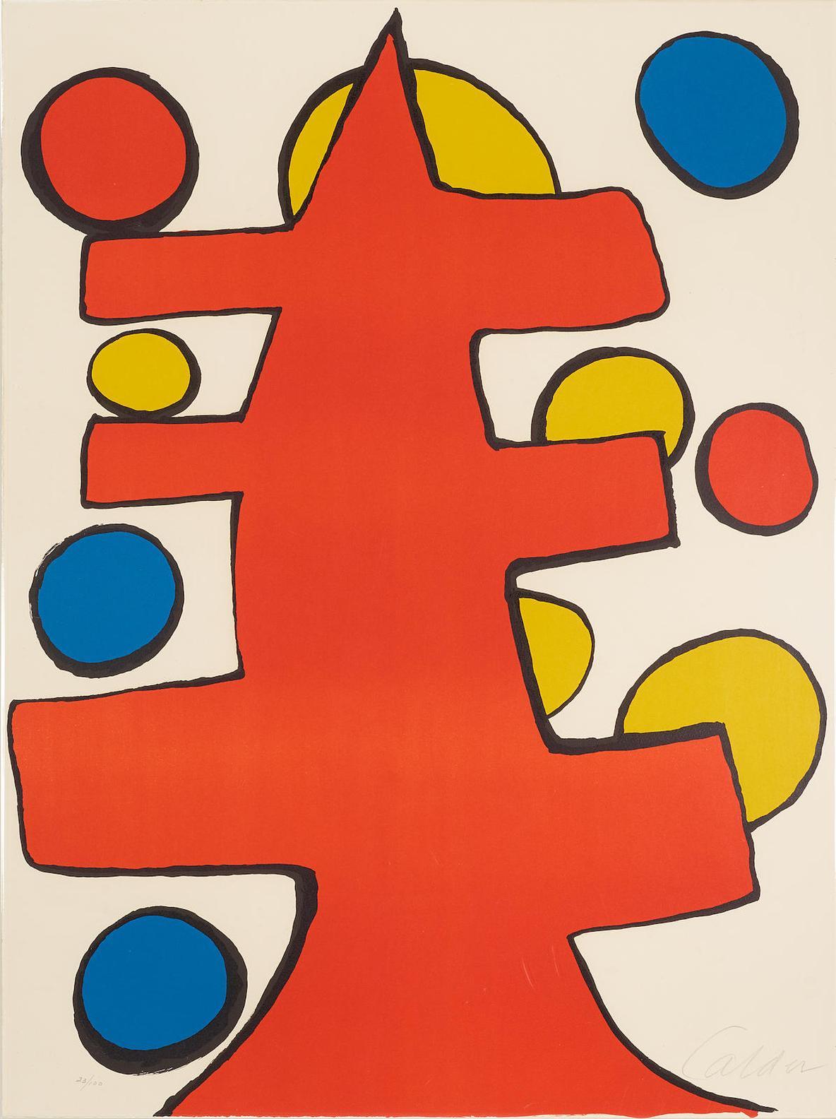 Alexander Calder-Untitled (Red Tree)-1970