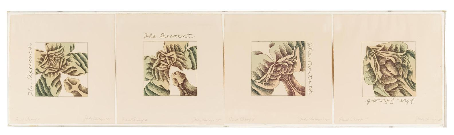 Judy Chicago-Butterfly Vagina Erotic Series 4-1975