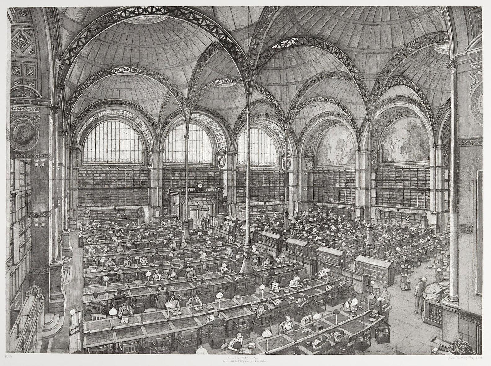 Erik Desmazieres-La Salle Labrouste De La Bibliotheque Nationale-2001