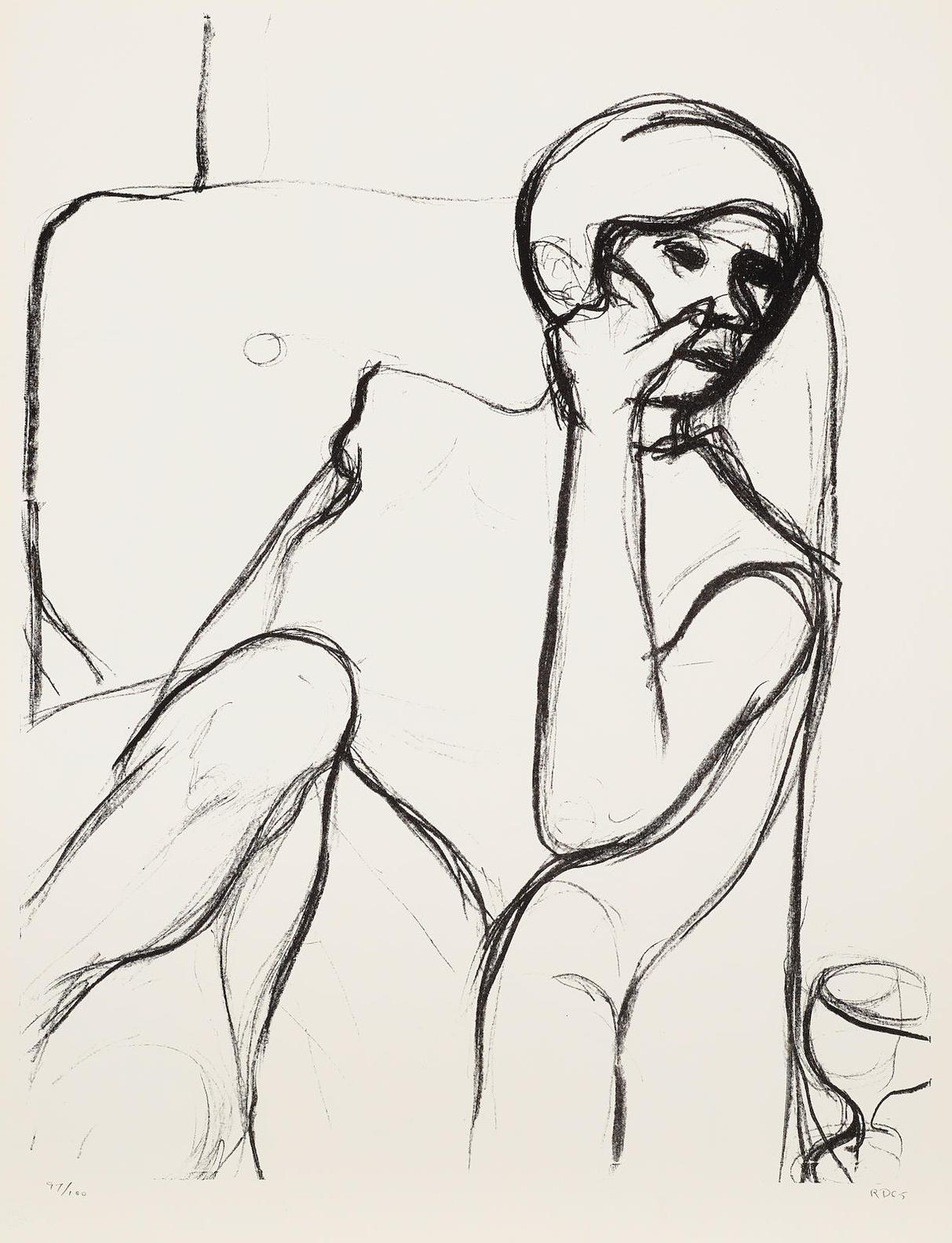 Richard Diebenkorn-4 Prints, From Seated Woman Series 4-1965