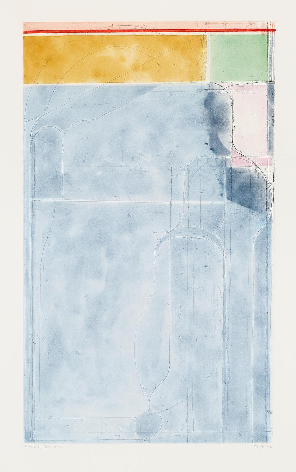 Richard Diebenkorn-Large Light Blue, From Eight Color Etchings-1980
