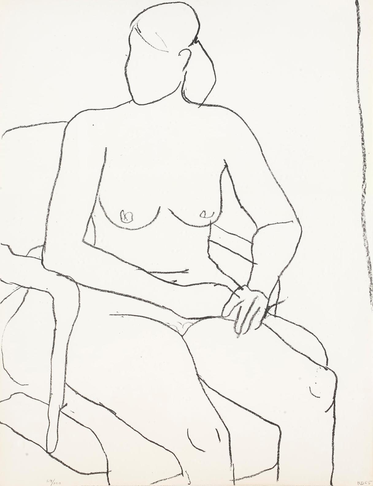 Richard Diebenkorn-Seated Nude-1965
