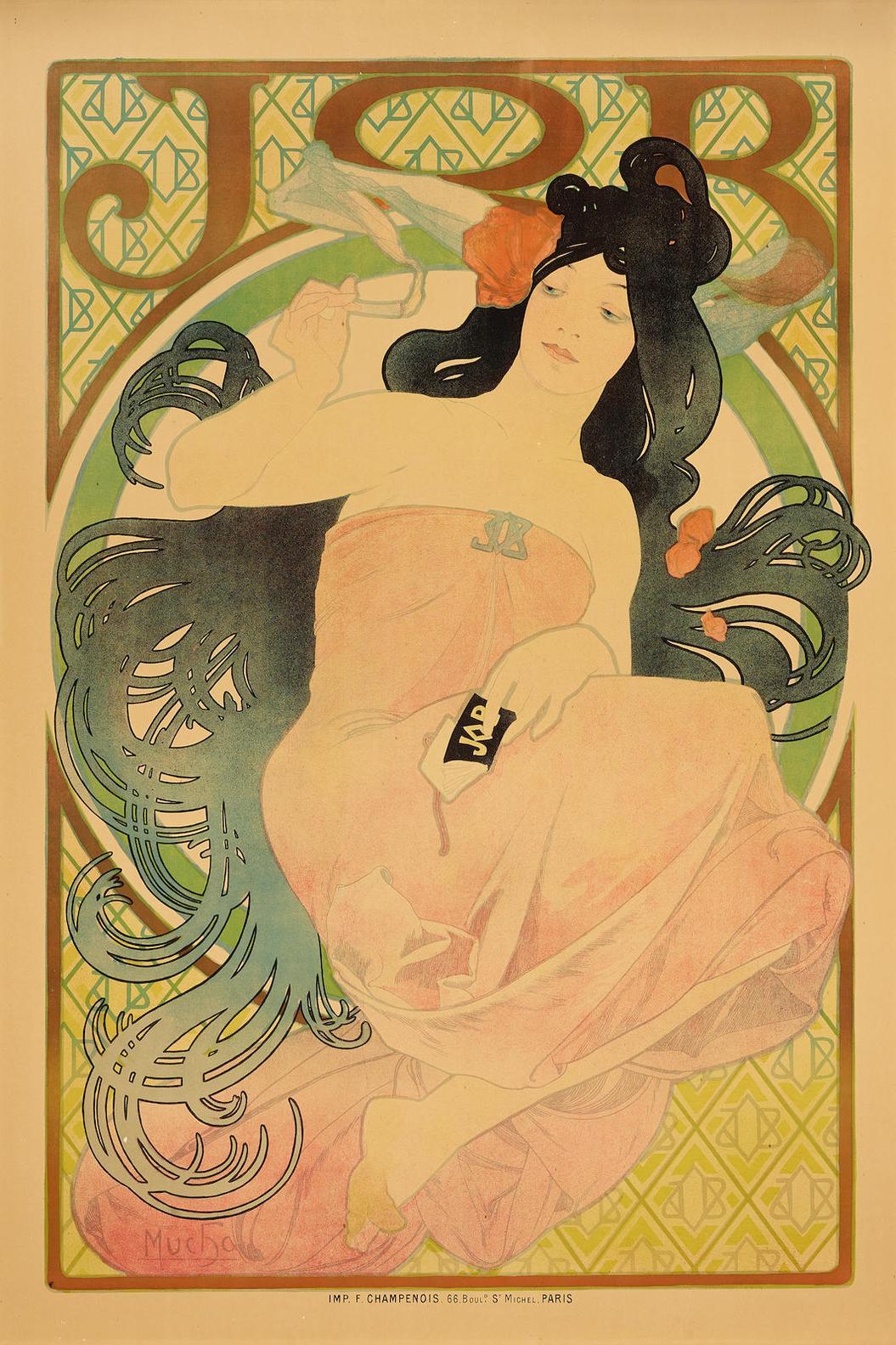 Alphonse Mucha-Job-1898