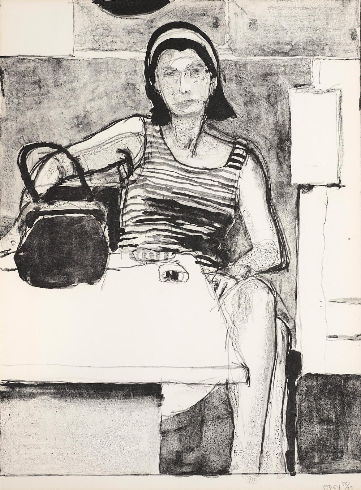 Richard Diebenkorn-Woman Seated At A Table-1967