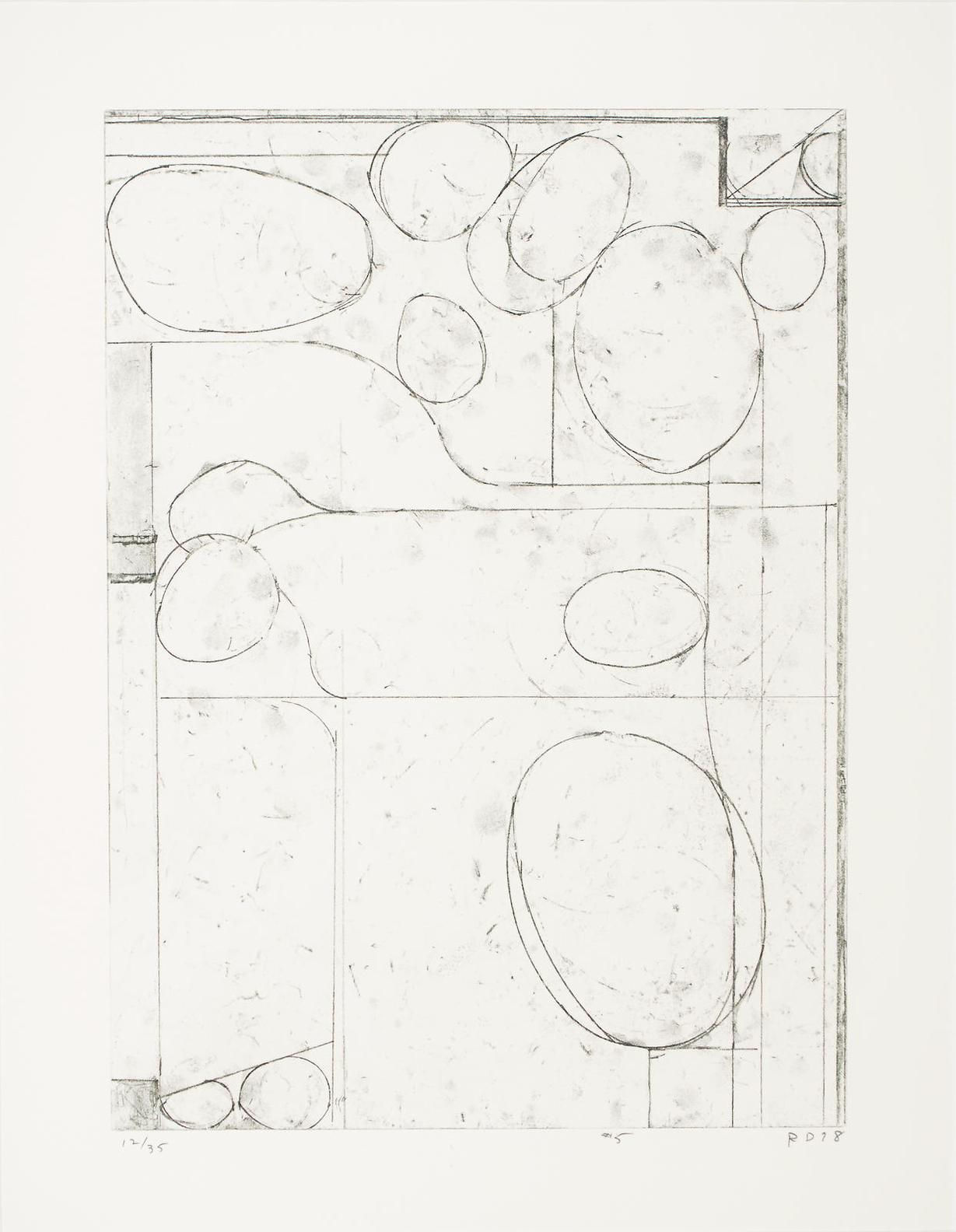 Richard Diebenkorn-#5, From Six Softground Etchings-1978
